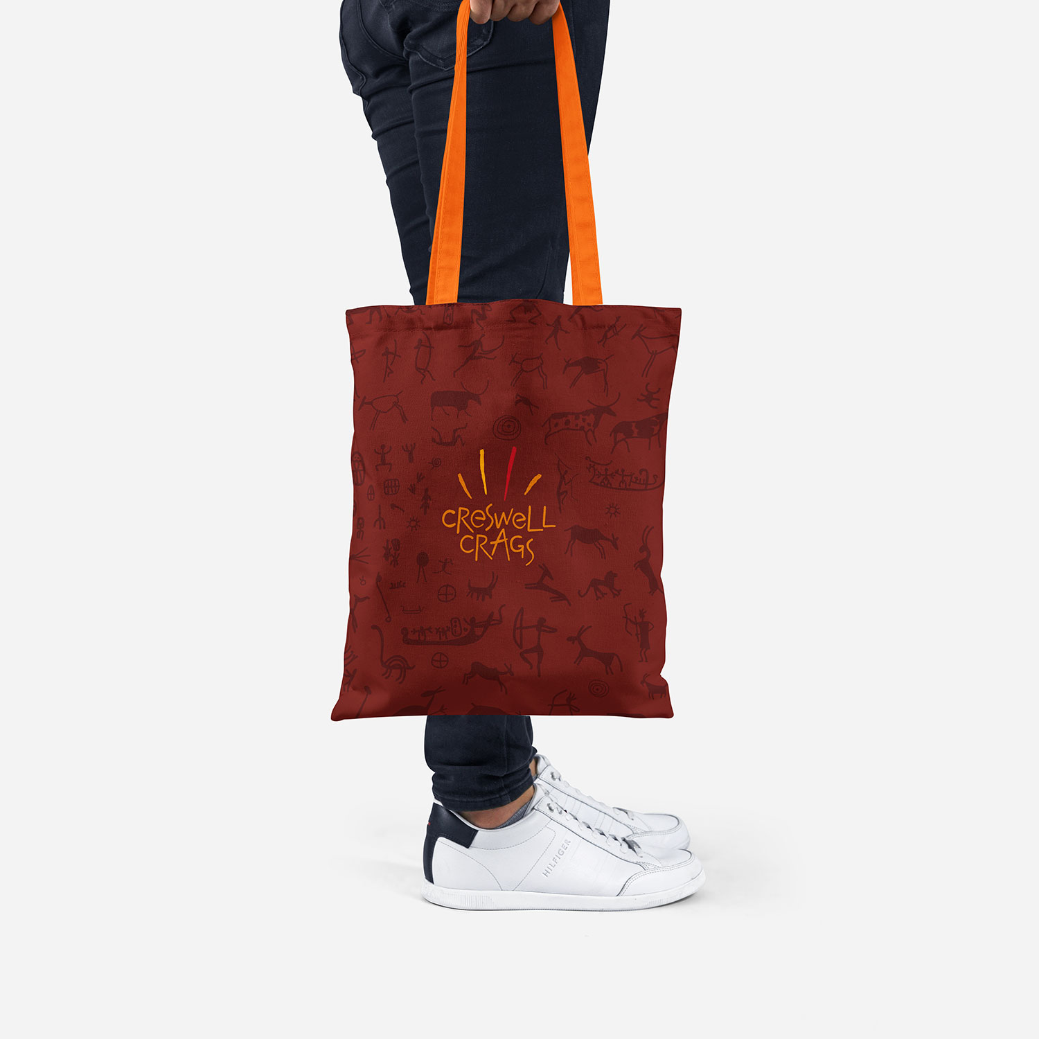 Creswell Crags branded bag