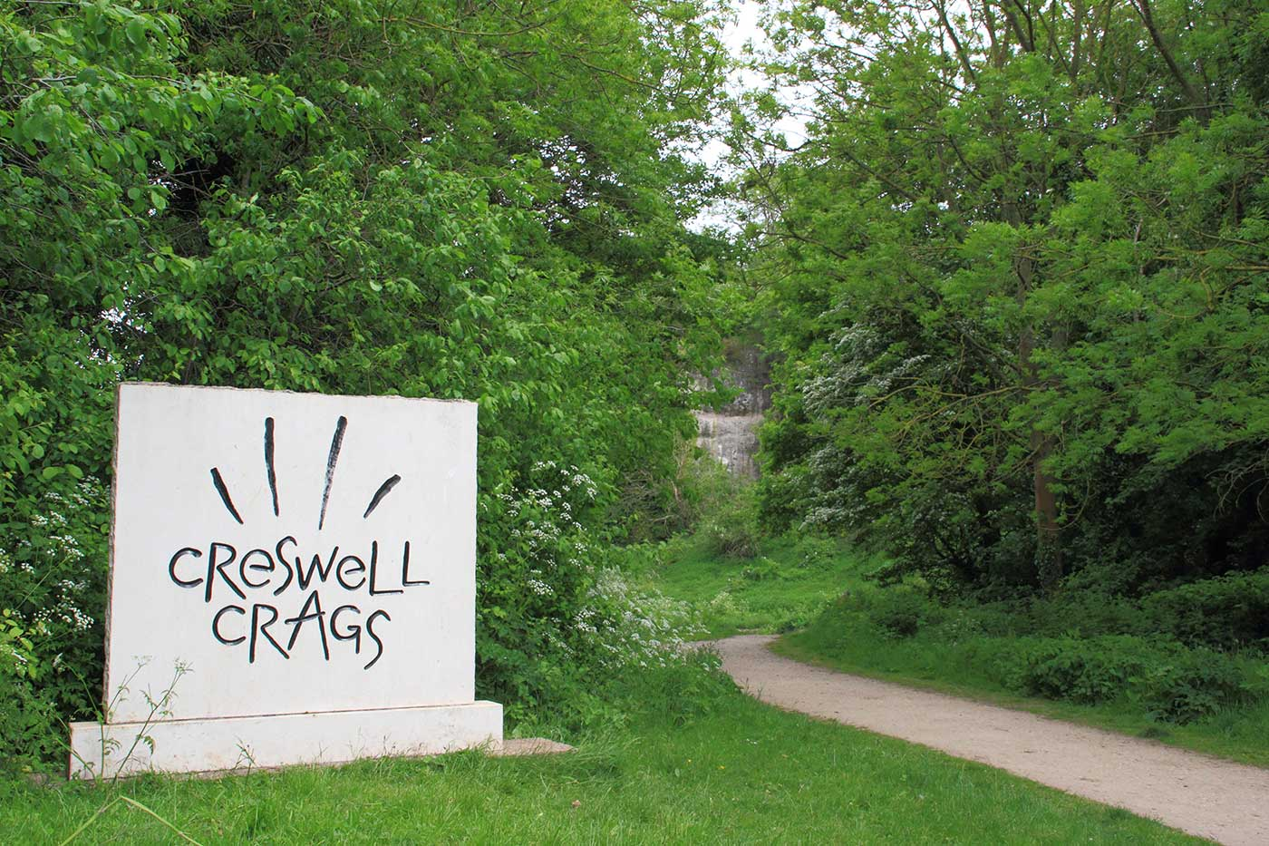 Creswell Crags signage design
