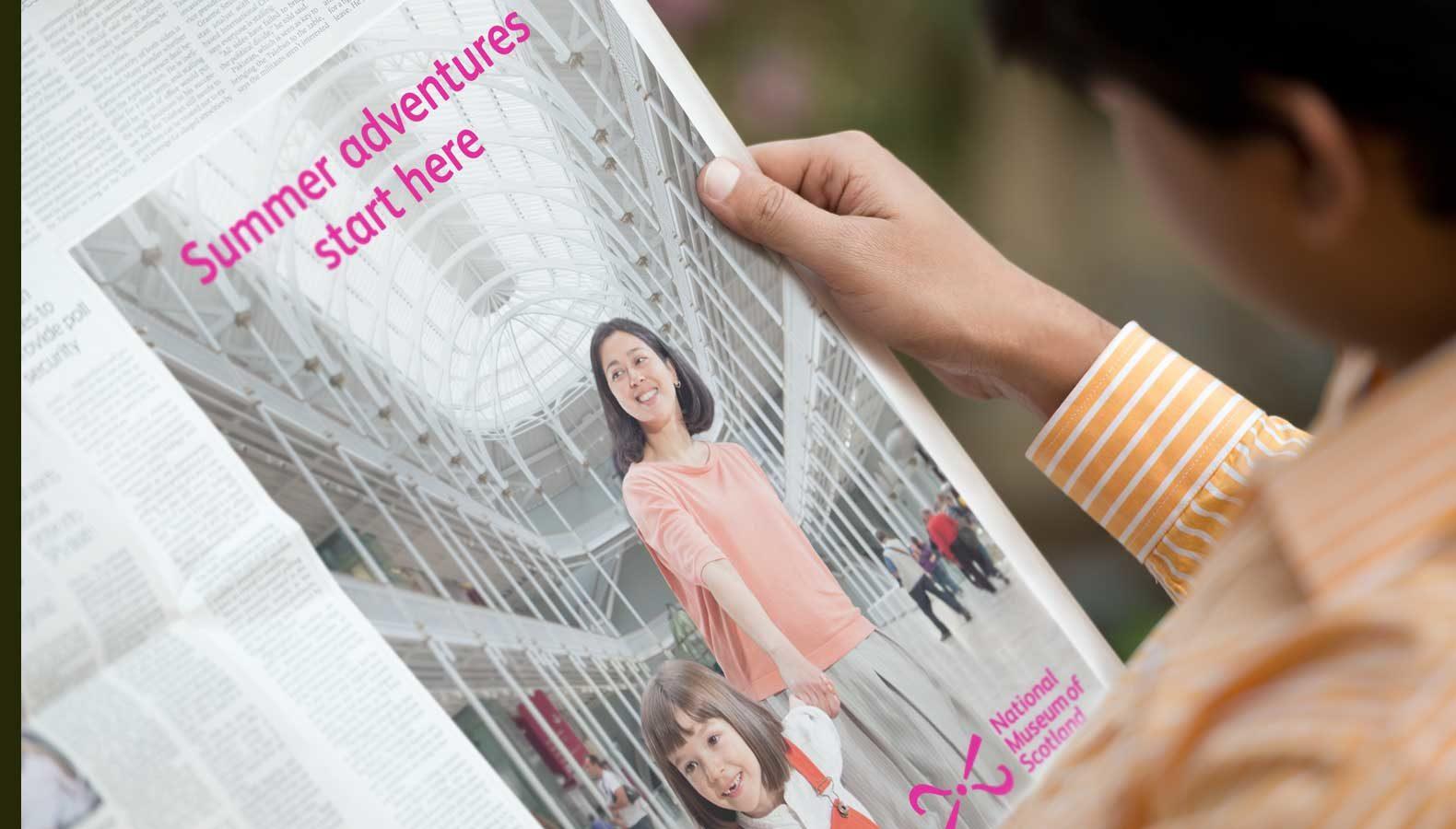 Newspaper advertising for museum