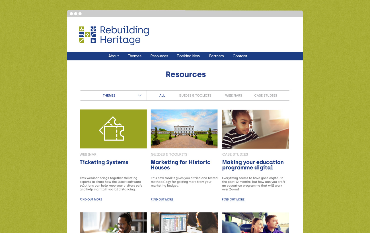 Rebuilding Heritage website design