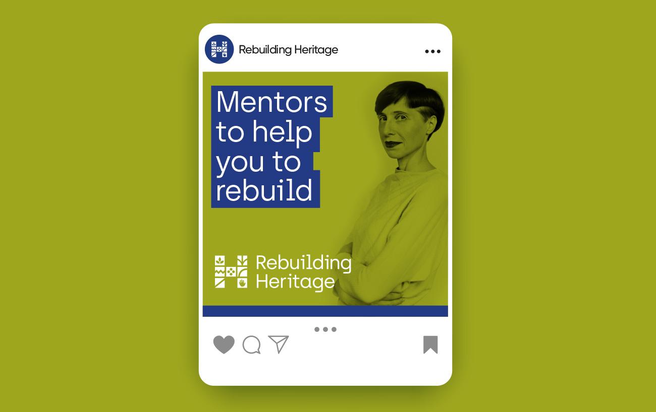 Rebuilding Heritage social media design